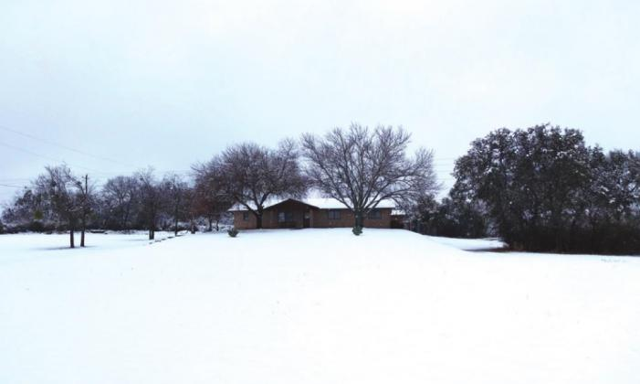 Where was this snow at Christmas for San Saba County?!?