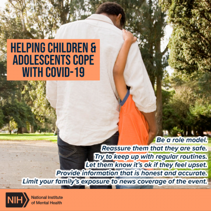 Helping Children and Adolescents Cope with COVID-19 Chart