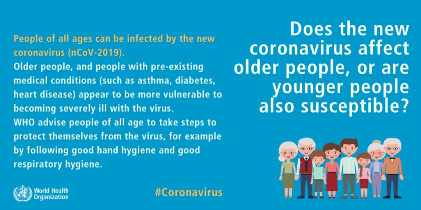 Virus affects all ages.