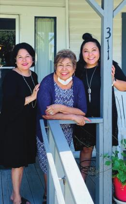 The annual Yellow Rose Luncheon is scheduled for April 15, featuring a panel of speakers including, from left, Anna Delgado Ramos '90, Minerva Delgado Lopez '63 and Sarah Ramos '20.