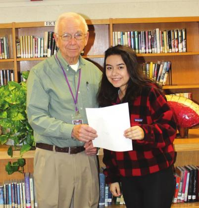 San Saba Rotary Club awards December and January student-of-the-month